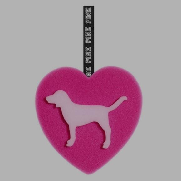 Pink heart loofahs